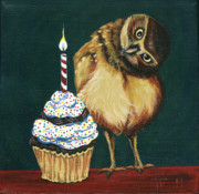 Wildlife Celebration Paintings - Food For Thought by Gail Finn