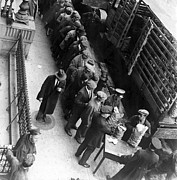 Bread Line Prints - Food Handouts In New York In 1930 Print by Everett