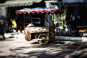 Push Cart Artist Framed Prints - Food Stand Framed Print by Thanh Tran