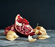 Pomegranate Posters - Food Still Life Poster by Carlo A