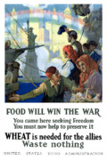 Statue Of Liberty Digital Art Prints - Food Will Win The War Print by War Is Hell Store