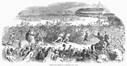 Spectator Prints - Foot Race, 1844 Print by Granger