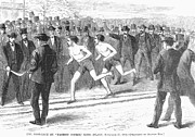 Finish Line Metal Prints - Foot Race, 1868 Metal Print by Granger
