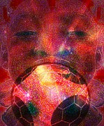 Soccer Mixed Media - Football - Le Ballon de Calixte by Fania Simon