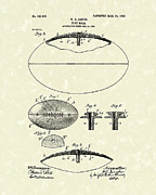 Football Drawings Metal Prints - Football 1903 Jacobs Patent Art Metal Print by Prior Art Design