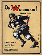 Sports Uniform Prints - Football. A University Of Wisconsin Print by Everett