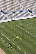 Goal Post Framed Prints - Football Field End Zone Framed Print by Jeremy Woodhouse
