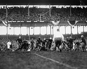 Spectator Photo Prints - Football Game, 1925 Print by Granger