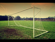 Soccer Field Framed Prints - Football Goal Framed Print by Federico Scotto
