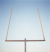 Goal Post Framed Prints - Football Goal Post Framed Print by Mike Powell