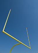 Goal Post Framed Prints - Football Goal Post Framed Print by Tetra Images