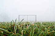Soccer Field Framed Prints - Football Goal Framed Print by Ulrich Mueller