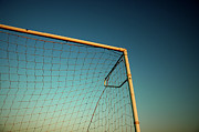 Goal Post Framed Prints - Football Goalpost And Net Framed Print by Kevin Button