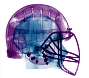 Football Safety Posters - Football Helmet, X-ray Poster by Ted Kinsman