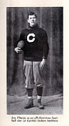 1900s Portraits Photos - Football, Jim Thorpe In Carlisle Indian by Everett