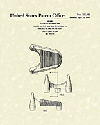 Kicking Posters - Football Kicking Tee 1963 Patent Art Poster by Prior Art Design
