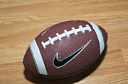 Nike Photo Prints - Football Print by Malania Hammer