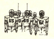 Pittsburgh Mixed Media Prints - Football Nasties Print by Brett H Runion