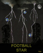 Team Mixed Media - Football Star by Eric Kempson