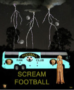 Rugby Union Mixed Media Posters - Football Tour Scream Poster by Eric Kempson