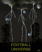 Soccer Mixed Media - Football Universe by Eric Kempson