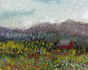Miniature Pastels - Foothills Meadow by David Patterson
