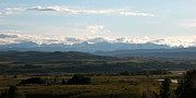 Alberta Foothills Landscape Framed Prints - Foothills panorama Framed Print by Stuart Turnbull