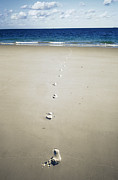 Whitsunday Photos - Footprints by Carlos Dominguez