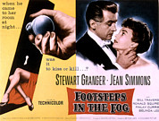 1955 Movies Posters - Footsteps In The Fog, Stewart Granger Poster by Everett