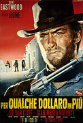 1960s Poster Art Photo Framed Prints - For A Few Dollars More, Clint Eastwood Framed Print by Everett
