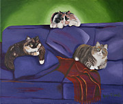 Visionary Art Paintings - For Cat Lovers by Joyce Small