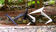 Steel Sculpture Sculptures - For Fred Astaire And Ginger Rogers by John Neumann