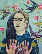 Morning Glory Art - For Frida by Sheri Howe