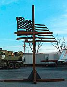American Flag Sculptures - for God and country by Buzz Ferrell