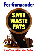 For Gunpowder Save Waste Fats Print by War Is Hell Store