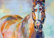 Thoroughbred Paintings - For Her Eyes Only by Kimberly Santini
