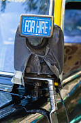 For Hire Sign On Taxi Print by Inti St. Clair