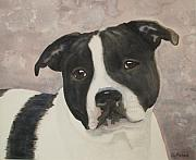 Staffordshire Bull Terrier Paintings - For Me by Ally Benbrook