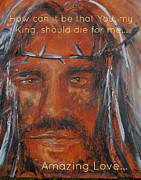 Jesus Art Paintings - For Me He Paid the Price by Laura Bird Miller