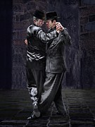 Digital Photography Prints - For Men Only - Tango Series Print by Raul Villalba