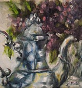Teapot Painting Originals - For Morning Coffee by Angela Sullivan
