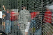 Vietnam Veterans Memorial Photos - For My Country by Carolyn Marshall