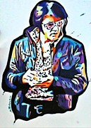 Elvis Presley Painting Originals - For my fans by A Parker