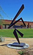 Outdoor Metal Sculpture Art - For The Conductor  by John Neumann