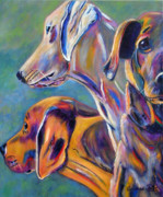 Boston Terrier Art Paintings - For the Love of Dogs by Andrea Folts