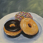 Donut Framed Prints - For the Love of Krispy Kreme Framed Print by Torrie Smiley