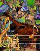 Staff Digital Art - For the Love of Music by Karen Musick