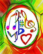 Susan Leggett Digital Art Prints - For the Love of Music Print by Susan Leggett