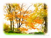 Autumn Landscape Art - For The Love of October by Bob Orsillo