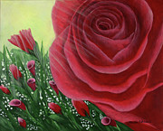 Kristi Roberts Framed Prints - For the Love of Roses Framed Print by Kristi Roberts
